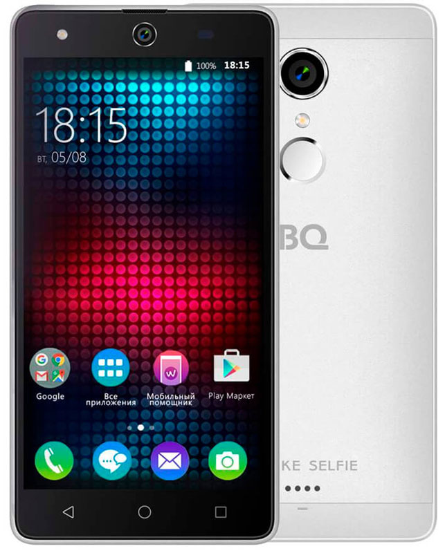 BQ 5050 Strike Selfie, Silver смартфон bq mobile 5050 strike selfie gold