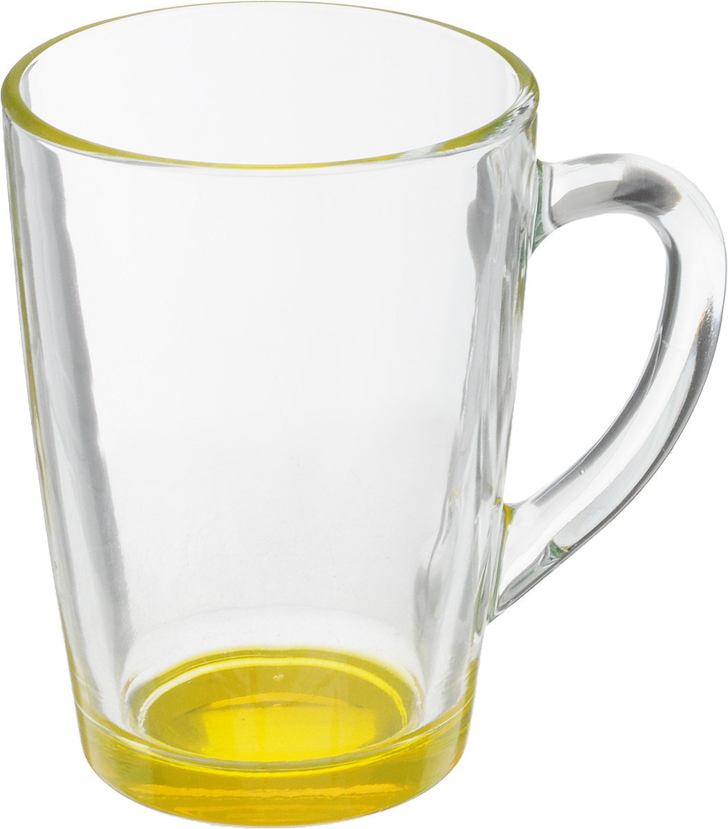 """Кружка OSZ """"Капучино"""", цвет: прозрачный, желтый, 300 мл. 07C1334LM"""