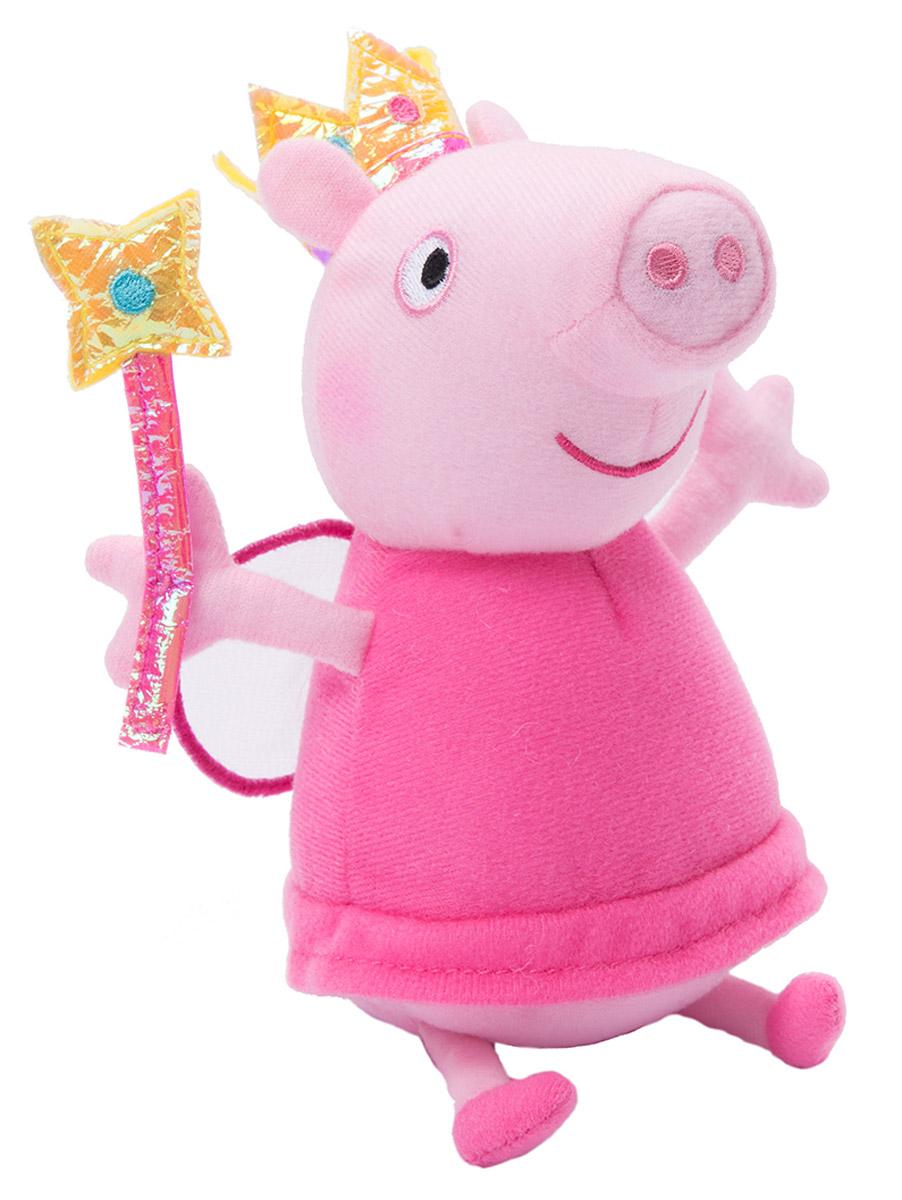 Peppa Pig Мягкая игрушка Пеппа Фея с палочкой 20 см мягкие игрушки peppa pig мягкая игрушка пеппа модница 20 см