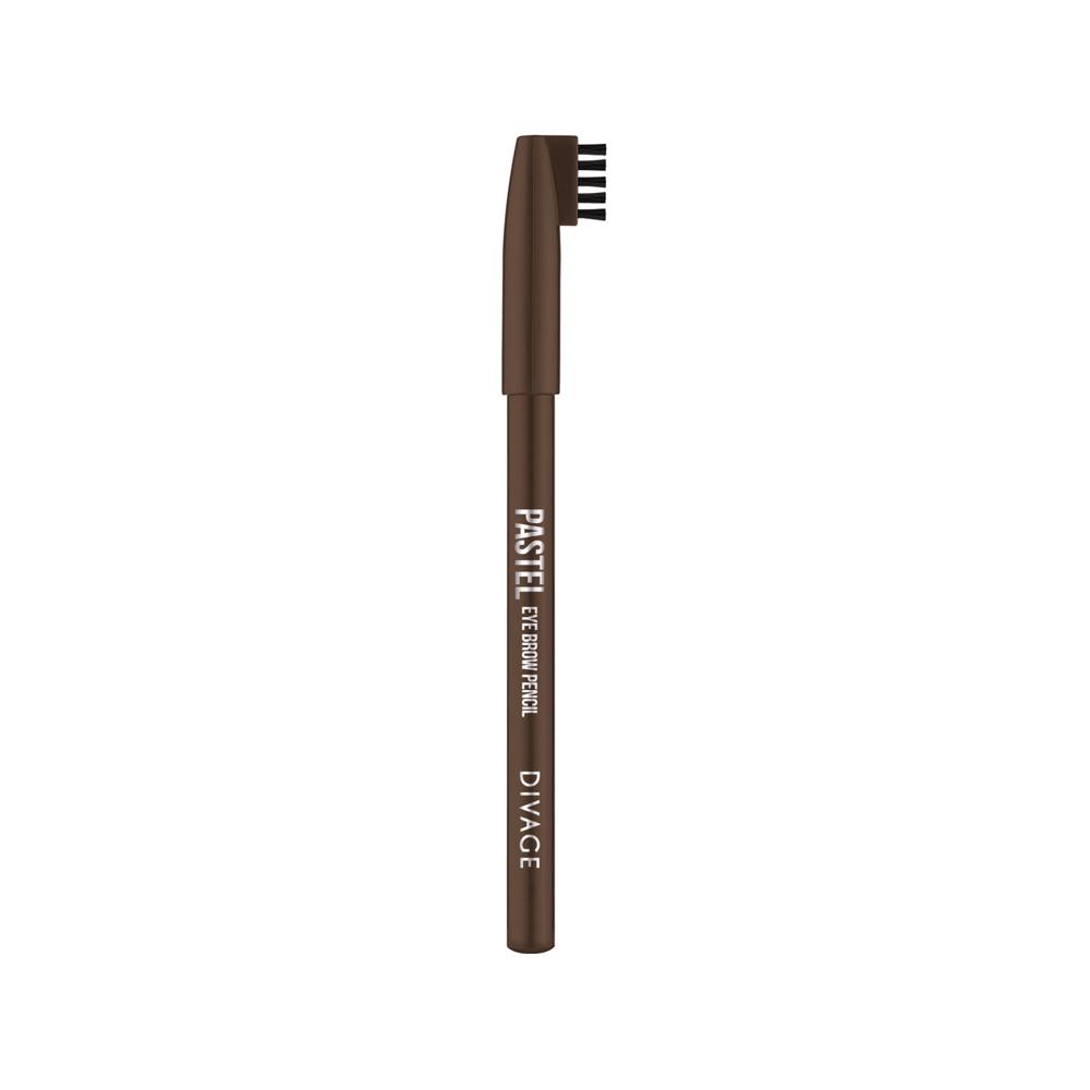 Divage Карандаш Для Бровей Pastel - Тон № 1106013629Карандаш плотной текстуры идеально подходит для графичного моделирования формы бровей. Воздушный пудровый контур придаёт бровям совершенную форму и гармоничный объём. Обеспечивает эффект натуральных, ровных и густых бровей. Эффект достигается не только благодаря насыщенному составу, но и маленькой расчёске, которая используется до и после применения карандаша. Она предварительно подготавливает брови для использования карандаша, а затем облегчает его равномерное распределение для придания брови формы и ровного цвета. Касто ровое масло и растительные воски, содержащиеся в составе карандаша, бережно ухаживают за нежной кожей века. Подари образу максимальную естественность с карандашами для бровей PASTEL от DIVAGE!