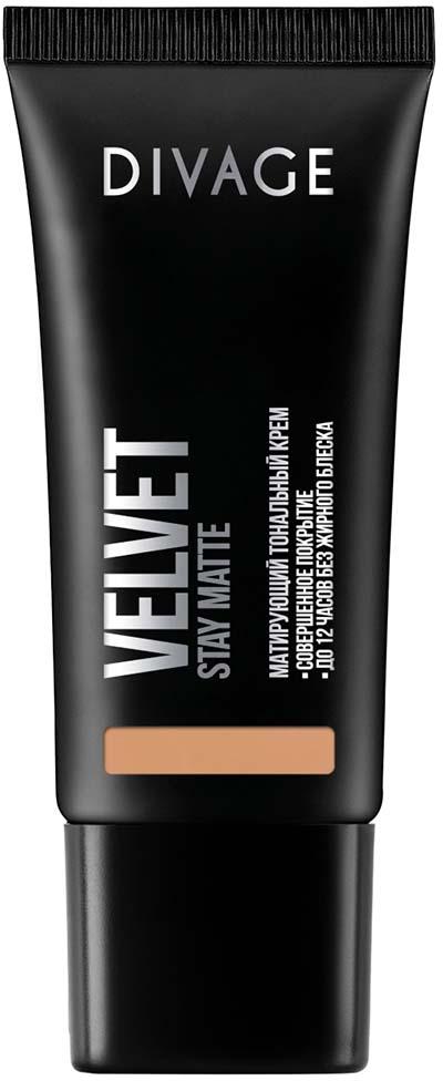 Divage Тональный Крем Velvet - Товар № 06014411Нежная кремовая текстура обладает тройным действием. Микропигменты идеально выравнивают кожу, маскируя любые недостатки, и создают идеально ровный тон лица, придавая коже бархатное сияние. Витамин Е защищает кожу от вредного воздействия окружающей среды. Экстракт зеленого чая, входящий в состав формулы, сужает поры и придаёт дополнительную матовость коже лица. Тональный крем держится до 12 часов, сохраняя кожу ровной и гладкой без жирного блеска. В коллекцию добавлены три новых благородных оттенка, для еще более комфортного и естественного макияжа.