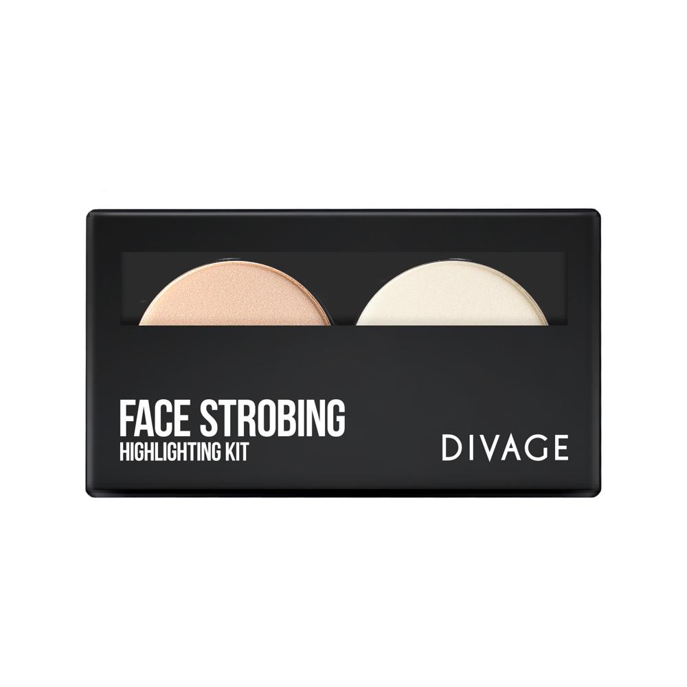 Divage Палетка - Товар Face strobing014602Палетка FACE STROBING станет незаменимым помощников в создании идеального образа. В палетку входят: - хайлайтер для натурального деликатного сияния; - прозрачная фиксирующая пудра - для закрепления макияжа и предотвращения появления жирного блеска;