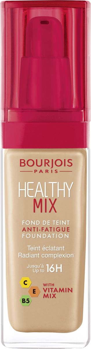 Bourjois Тональный Крем Healthy Mix Relaunch Тон 5429199601054Тональный крем Healthy Mix, обогащенный витаминами, скрывает следы усталости и несовершенства тона, усиливая естественное сияние.