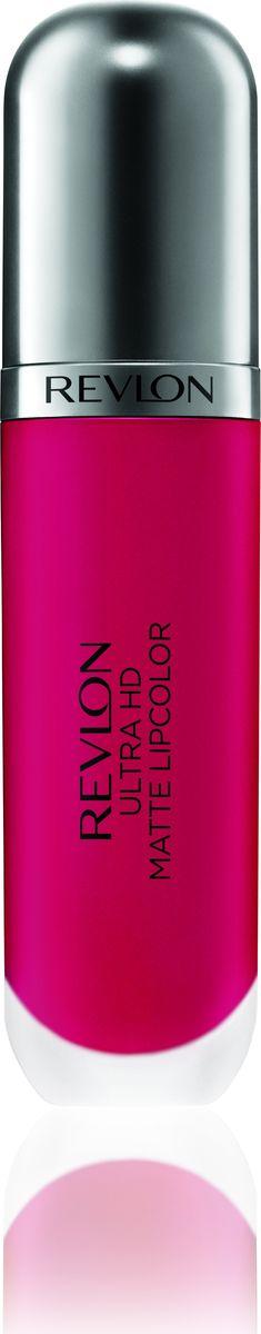 Revlon Помада Для Губ Ultra Hd Matte Lipcolor Romance 6607210753028Revlon Ultra HD™ Matte Lipcolor - бархатный цвет на твоих губах. Уникальная гелевая формула создает невесомую текстуру, а отсутствие воска сохраняет губы увлажненными и придает ощущение комфорта. Легкость нанесения, устойчивость и удобный апликатор – вот почему помада идеально ложиться на губы, придавая им яркий, насыщенный цвет и объем. Обладает приятным ароматом сливок, ванили и спелого манго. Доступен в 7 ярких, трендовых оттенках.Какая губная помада лучше. Статья OZON Гид