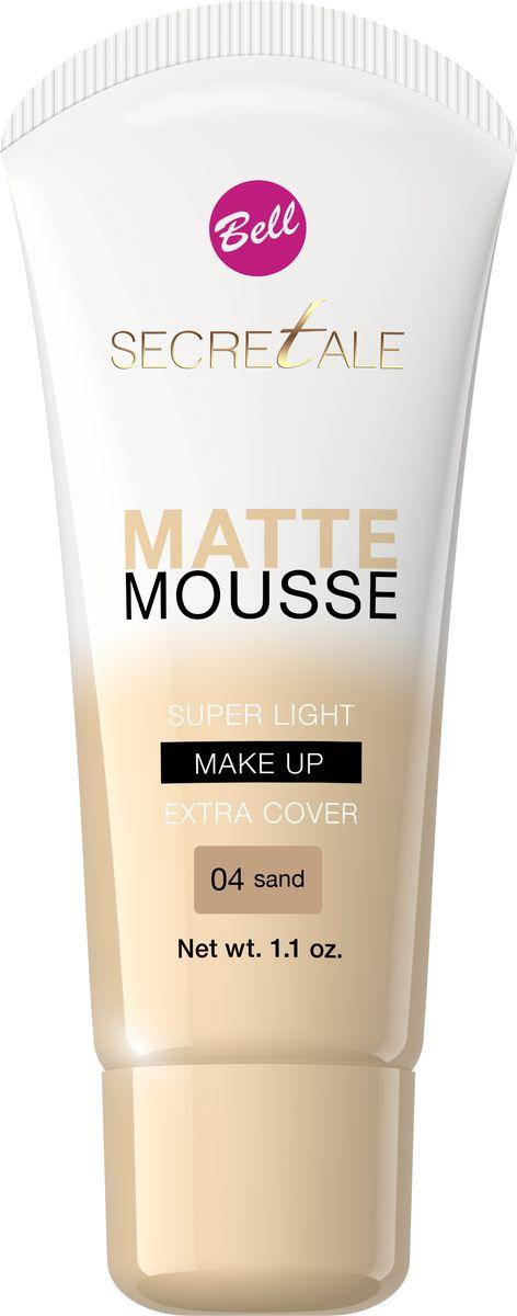 Bell Крем-мусс Тональный Матирующий Secretale Matte Mousse Тон 04BflS004Благодаря кремовой текстуре после применения на коже не остаются разводы, а любые недостатки остаются идеально скрыты. Также устраняет блеск кожи, оставляя ее матовой в течение многих часов. Увлажняющие свойства придают коже естественный, здоровый вид без эффекта маски.