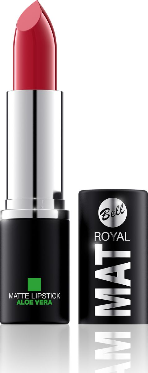 Bell Помада Губная Матовая С Алоэ Вера Royal Mat Lipstick Тон 12BpomRM012Помада создает матовую поверхность и максимальную насыщенность цвета. Аппликация помады является исключительно нежной и легкой, создавая при этом матовый эффект. Формула, содержащая регенерирующие компоненты алоэ дополнительно питает и ухаживает за губами. Благодаря высокому содержанию пигментов и стойкой формуле помада держится на губах долгое время.Какая губная помада лучше. Статья OZON Гид