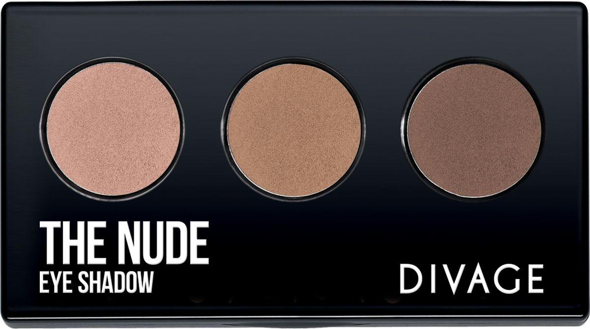 Divage Тени Для Век Трехцветные Eye Shadow The Nude - Тон № 02 тени divage палетка теней для век palettes eye shadow товар midnight
