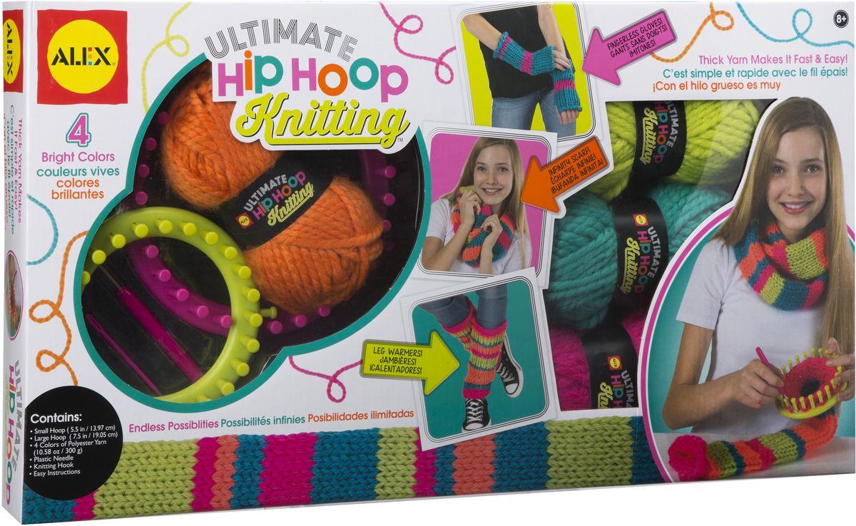Alex Набор для вязания Вяжем модные вещи на круговом станке, Alex Toys