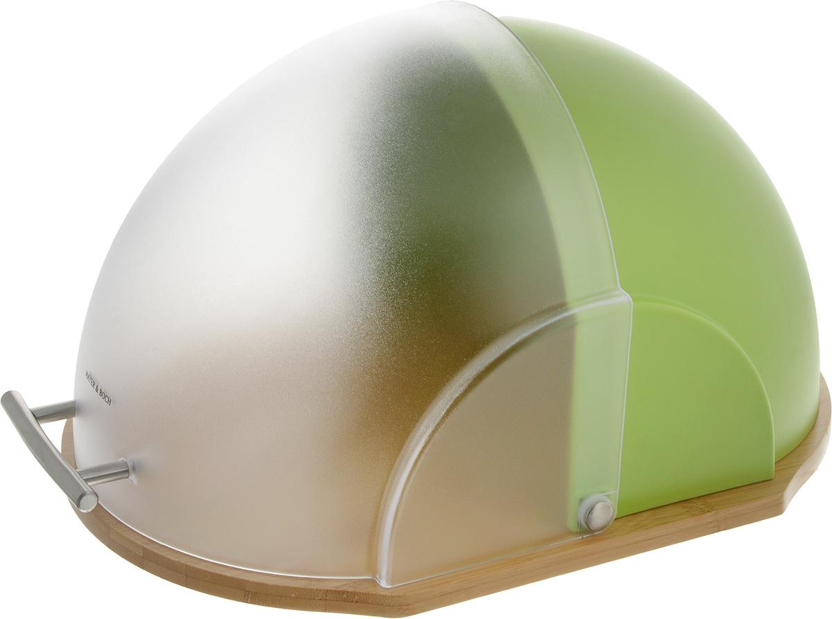 Хлебница Mayer & Boch Modern, 38 x 20 x 27 см23154Хлебница Mayer & Boch Modern позволит хранить хлеб, чипсы и кексы в порядке, обеспечивает привлекательный вид, а также позволяет сохранить продукты свежими и хрустящими. Основа выполнена из бамбука. Хлебница оснащена пластиковой крышкой с ручкой из нержавеющей стали, она имеет надежный механизм и не занимает дополнительного места для открытия, легко и бесшумно открывается и закрывается. Оригинальный яркий дизайн хлебницы выгодно дополнит любой кухонный интерьер. Хлебница надолго сохранит свежесть, мягкость, аромат хлеба и других хлебобулочных изделий.
