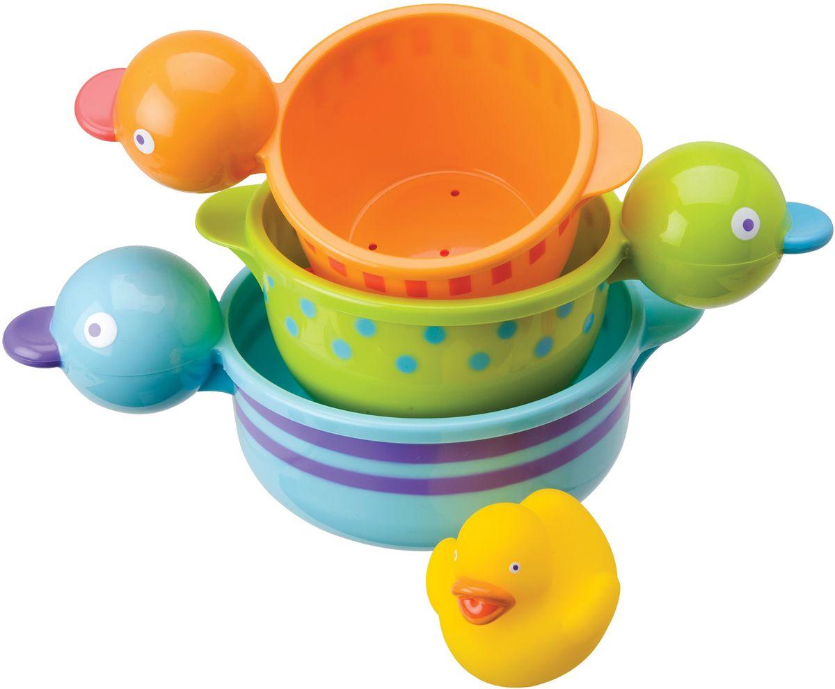 Alex Набор игрушек для ванной Чашки-уточки 3 шт alex игрушки для ванны 3 цветные лодочки