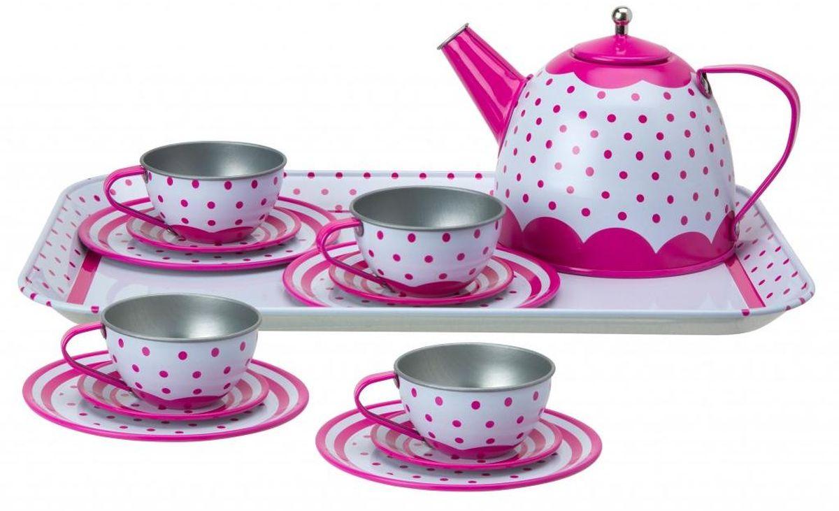 Alex Игровой набор Чайный сервиз Горошек alex игровой набор посуды чайный сервиз весна 16 предметов
