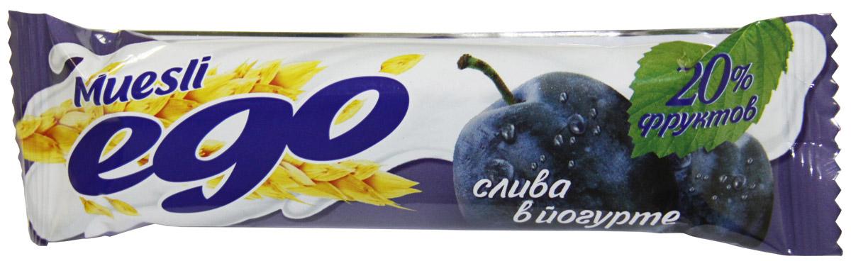где купить  Ego Батончик мюсли со вкусом Слива в йогурте, 25 г  по лучшей цене