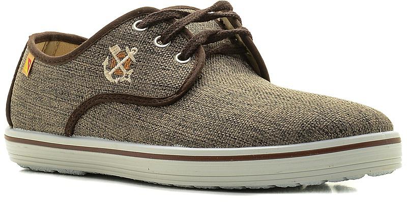 Кеды мужские El Tempo, цвет: коричневый. EAB13_Q5786X. Размер 41EAB13_Q5786X_MARRONСтильные мужские кеды от El Tempo выполнены из текстиля и оформлены вышивками на берцах, широким наружным ремнем на заднике. Шнуровка обеспечивает надежную фиксацию модели на ноге. Внутренняя поверхность и стелька из текстиля отвечают за комфорт при движении. Гибкая резиновая подошва дополнена рифленой поверхностью.