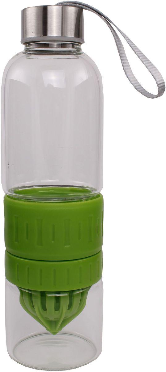 Бутылка для воды и приготовления напитков Patricia, цвет: зеленый, 600 мл. IM99-54192936557-зеленыйБутылка для воды и приготовления напитков Patricia - это бутылка, которая позволяет готовить и хранить различные напитки. Емкость состоит из двух частей: чтобы добавить напитку свежести, положите лед или фрукты в нижнюю съемную часть бутылки. Бутылку также можно использовать для приготовления спортивных коктейлей.Изделие изготовлено из стекла и пластика и легко разбирается и собирается. Можно использовать в посудомоечной машине.Размеры:- нижняя часть банки для содержания напитков: высота 7 см, D = 5 см, объем 170 мл;- бутылка для воды: высота 24 см, D = 6,5, объем 600 мл.