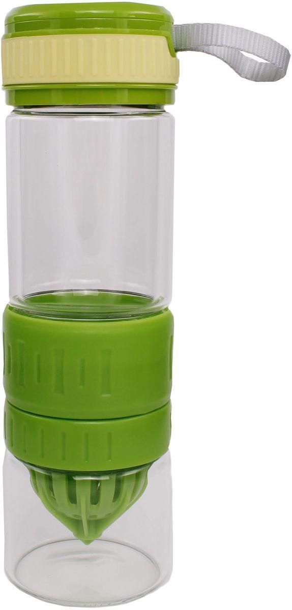 Бутылка для воды и приготовления напитков Patricia, 600 мл. IM99-5420/зеленыйIM99-5420/зеленыйБутылка для приготовления напитков легко разбирается и собирается, можно использовать в посудомоечной машине. Нижняя часть банки для содержания напитков высота 7 см, D= 5 см, объем 170 мл. Бутылка для воды 24х6,5, объем 600 мл.