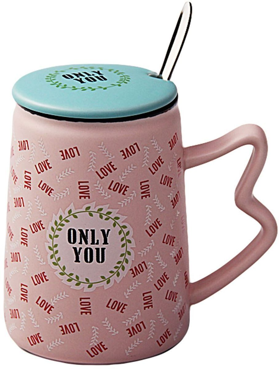 Кружка Patricia Only You, с ложкой и крышкой, 350 мл. IM99-0557/розовыйIM99-0557/розовыйКружка Patricia Only You с крышкой выполнена из керамики высокого качества. Благодаря удобной крышке вы сможете наслаждаться любимым горячим напитком намного дольше. В комплекте предусмотрена металлическая ложка, которая поможет вам с легкостью размешать любимый напиток.Объем кружки: 350 мл.Длина ложки: 17 см.Кружка 11х6,5 см объем 350 мл, ложка длина 17 см.