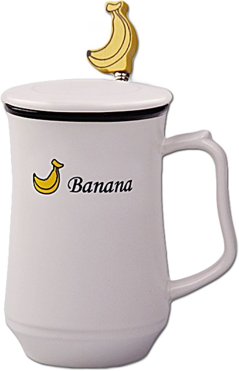 Кружка Patricia Фрукты, с ложкой и крышкой, 350 мл. IM99-0556/бананIM99-0556/бананКружка выполнена из керамики безупречной белизны высшего качества. В комплекте идет ложка из стали. Изделие декорировано ярким рисунком с изображением фруктов. Кружка 12х7 см, объем 350 мл ложка длина 17 см.
