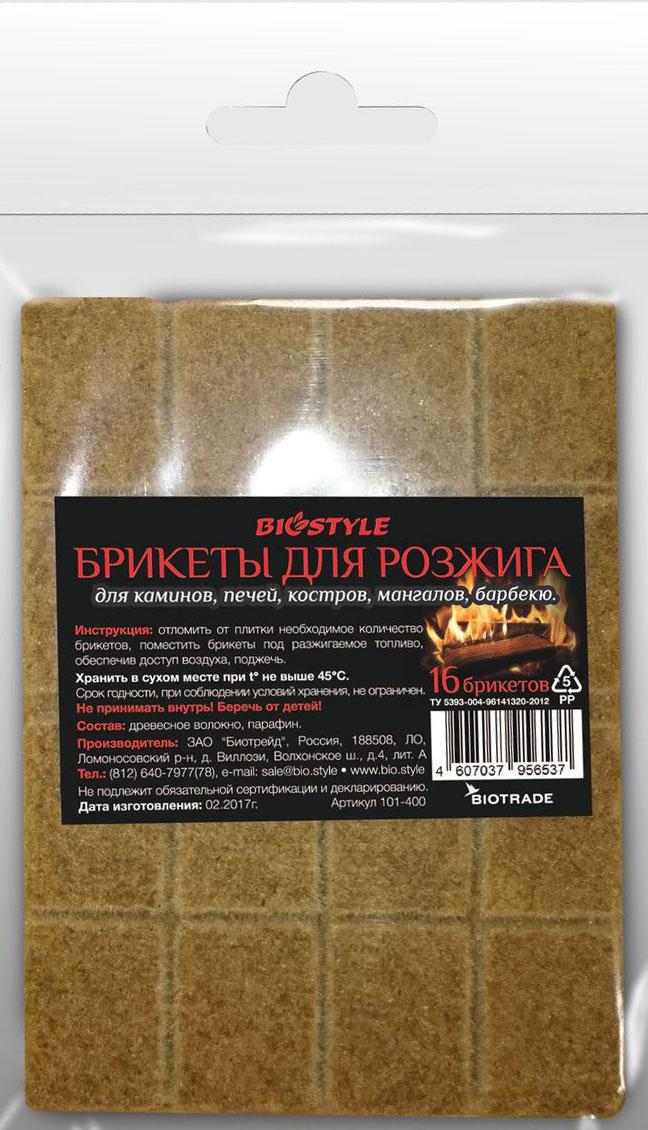 Брикеты для розжига Biostyle, древесные, 16 шт брикеты для растопки грилькофф 20 шт