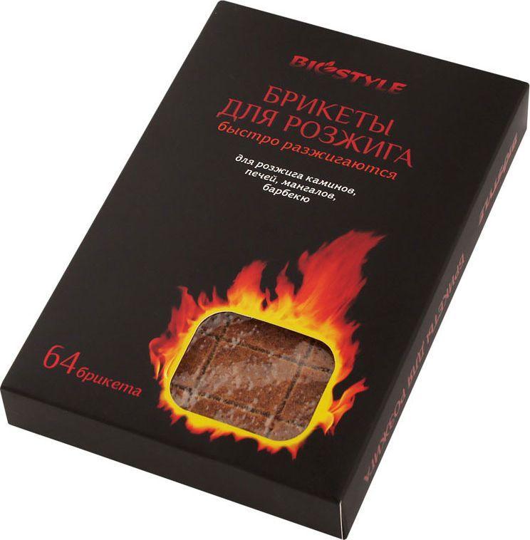 Брикеты для розжига Biostyle, древесные, 64 шт брикеты для растопки грилькофф 20 шт
