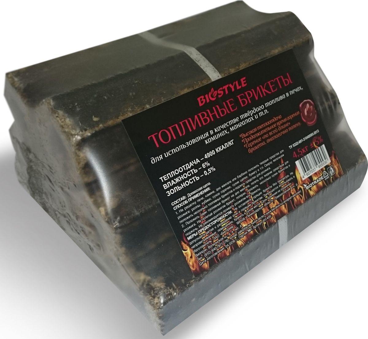 Брикеты для розжига Biostyle Piny Kay, топливные, 4,5 кг101-409Твердые топливные брикеты Biostyle Piny Kay имеют форму неправильного многогранника с отверстием внутри. Эти превосходные современные дрова произведены путем прессования сухой измельченной древесины под высоким давлением и при высокой температуре. Они имеют максимальную продолжительность горения и теплоту сгорания. Такие топливные брикеты более стойки к механическим воздействиям и повышенной влажности. Евродрова этого типа горят красивым ровным пламенем и являются отличной заменой березовым дровам. Поэтому рекомендуем использовать их в каминах.Теплоотдача: 4900 ккал/кг.Влажность: 6 %.Зольность: 0,5 %.Состав: древесная щепа.