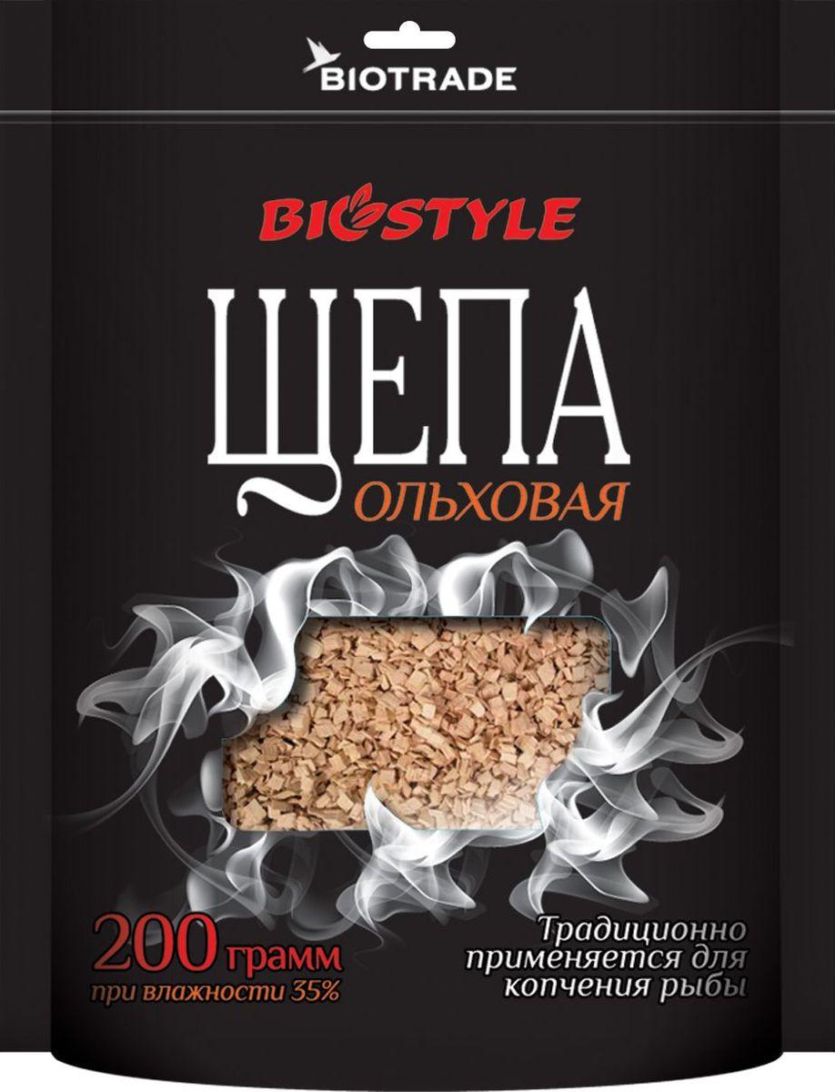 Щепа для копчения Biostyle Ольха, 200 г. 101-600101-600Щепа для копчения Biostyle Ольха изготовлена из свежей сортовой древесины, прошедшей специальную обработку. Ее можно использовать не только для копчения продуктов в коптильнях, но и для придания вкуса и аромата блюдам из мяса, рыбы и птицы, приготовленным на гриле, мангале или на открытом огне.Рекомендуется перед употреблением замочить щепу на 20-30 минут в воде.Инструкция по применению: смоченную водой щепу разложить по дну коптильни. Подготовленный (подсоленный или заправленный приправами) продукт выложить на решетку. Закрыть крышку коптильни и поставить коптильню на огонь. Длительность приготовления от 25 до 50 минут в зависимости от вида продукта и температуры.