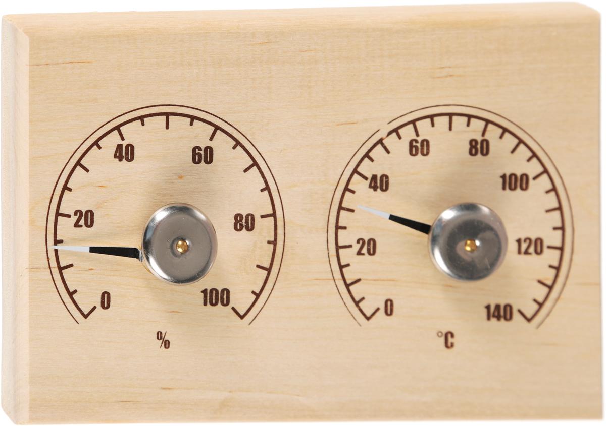 Банная станция Proffi Sauna: термометр, гигрометрPS0011Банная станция Proffi Sauna поможет вам избежать превышения температуры, которая может ухудшить ваше самочувствие. Станция включает в себя термометр и гигрометр. Изделие выполнено в виде деревянной основы, металла и полипропилена. Максимальная измеряемая температура у термометра -120°С. Максимальная измеряемая влажность у гигрометра -100%.Благодаря банной станции, вы сможете контролировать температуру и безгранично отдаться отдыху.