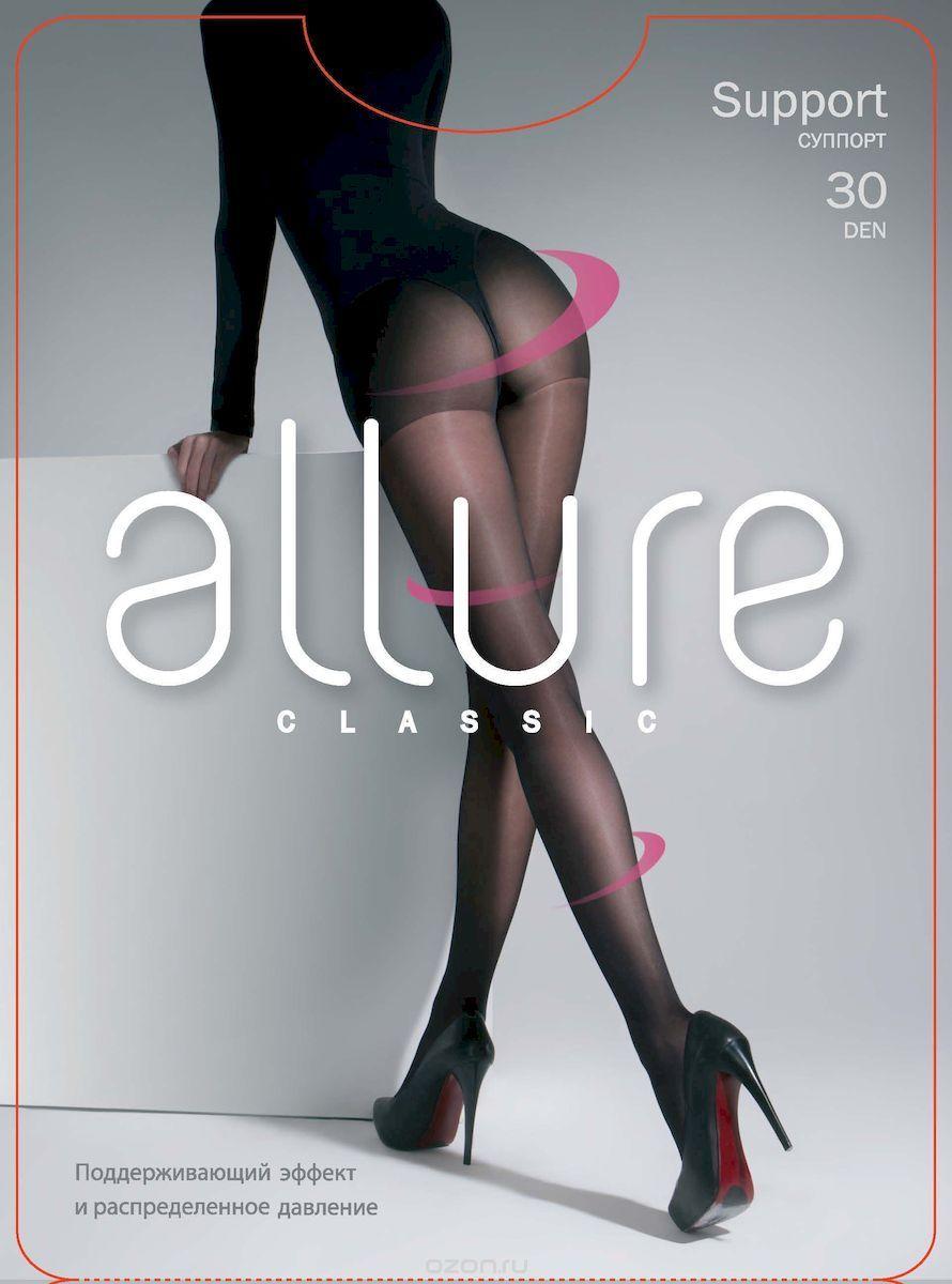 Колготки Allure Support 30, цвет: Nero (черный). Размер 5 колготки allure allure mp002xw134cf
