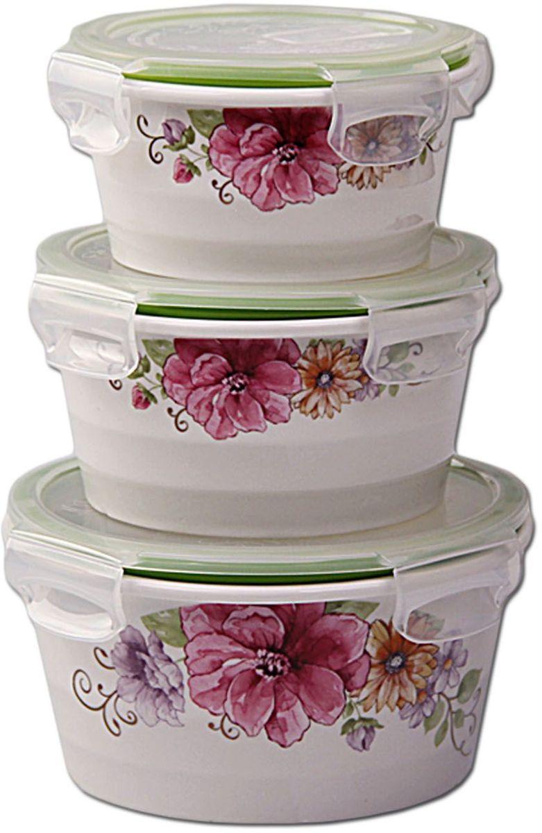 Набор контейнеров Patricia Small, 3 шт., с крышками. IM99-5287 емкости неполимерные patricia банка 17 см шт