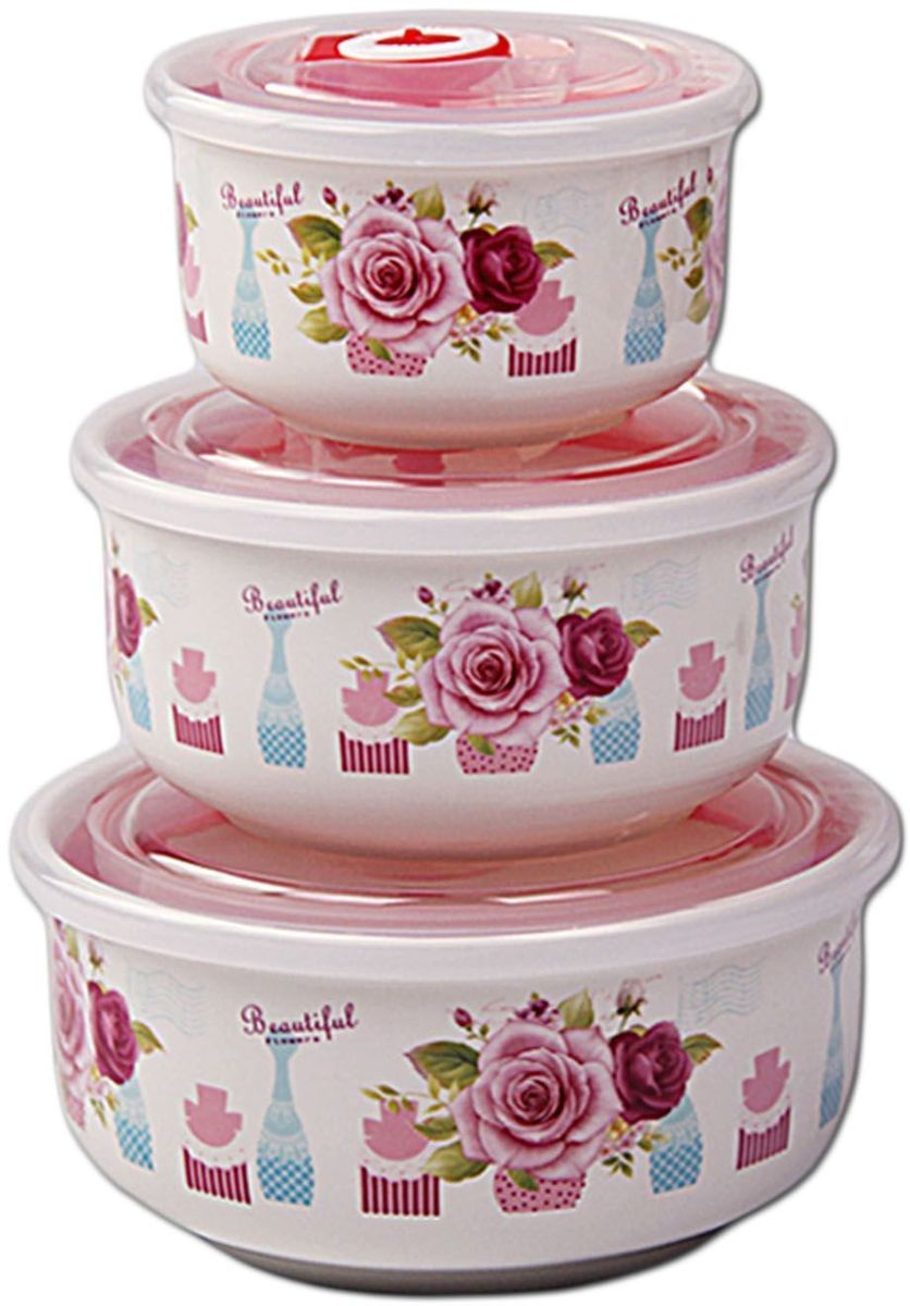Набор контейнеров Patricia Small, 3 шт., с крышками. IM99-5288/1IM99-5288/1Набор банок выполнен из керамики. Герметичные контейнеры, устойчивы к протеканию, отлично подходят для хранения и перевозки жидкостей, легко моются и удобны в использовании. Размеры: контейнер 7,5х14,5 / 1000 мл; контейнер 7,5х12 / 600 мл; контейнер 6х9,5 / 300 мл.