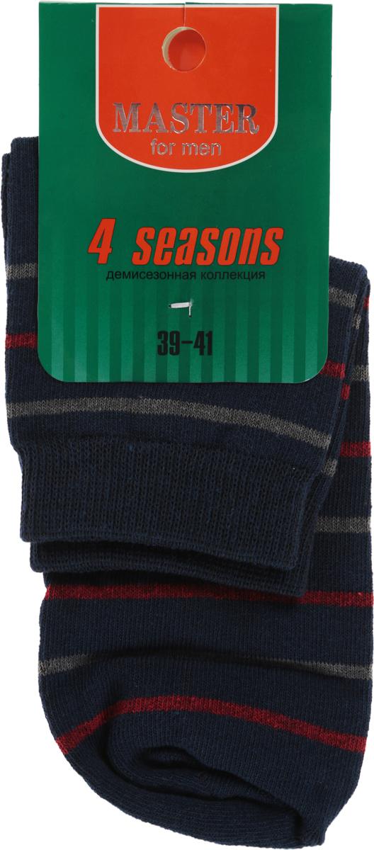 Носки мужские Master Socks, цвет: темно-синий. 58033. Размер 2958033Удобные носки Master Socks, изготовленные из высококачественного комбинированного материала, очень мягкие и приятные на ощупь, позволяют коже дышать. Эластичная резинка плотно облегает ногу, не сдавливая ее, обеспечивая комфорт и удобство. Носки с укороченным паголенком оформлены принтом в полоску. Удобные и комфортные носки великолепно подойдут к любой вашей обуви.