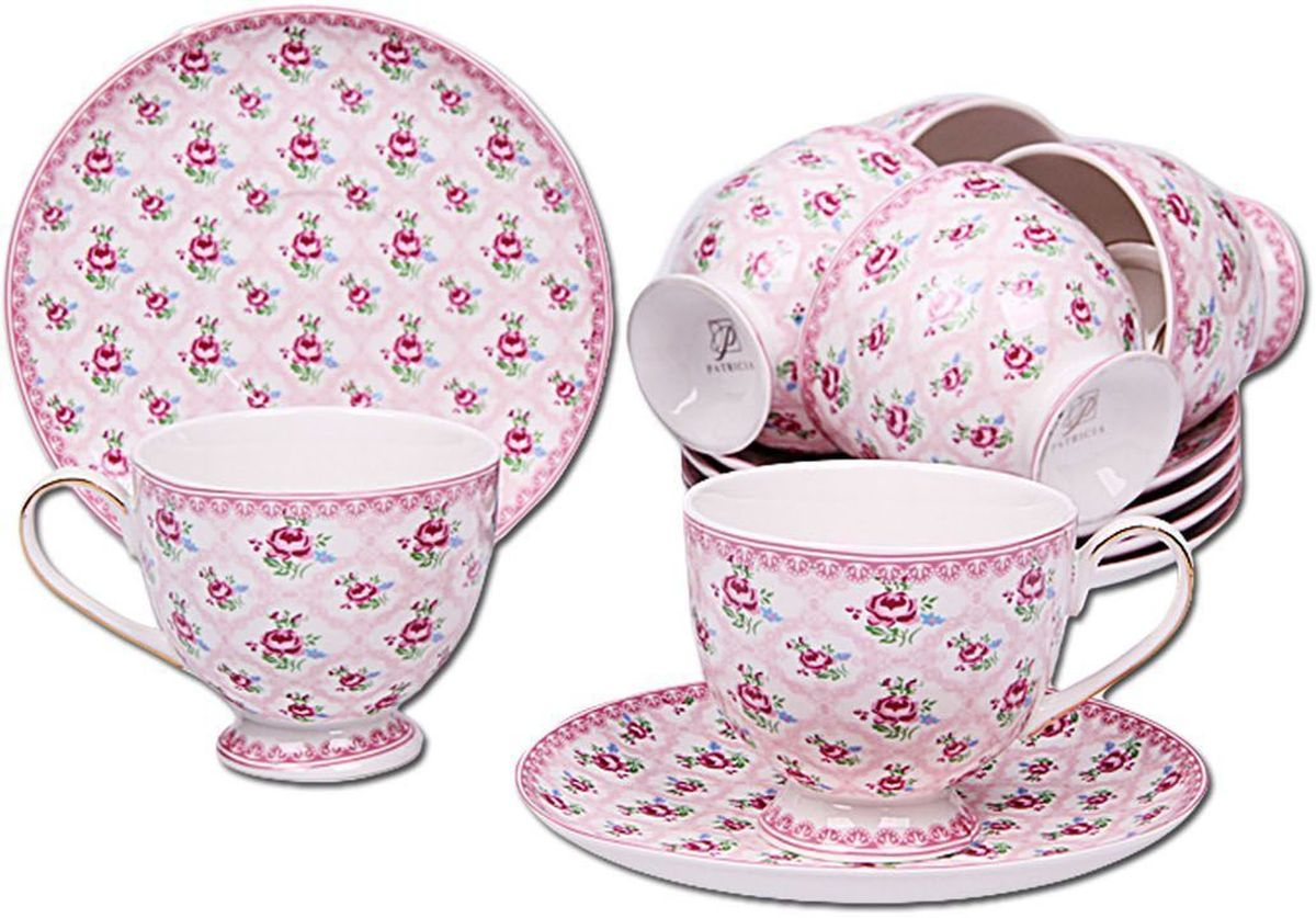 Набор чайный Patricia, 12 предметов. IM56-1622IM56-1622Чайный набор Patricia состоит из 6 чашек и 6 блюдец.Набор, выполненный из высококачественного фарфора, изящно дополнит сервировку стола к чаепитию. Нерекомендуется мыть в посудомоечной машине ииспользовать в микроволновой печи.Объем чашки: 220 мл. Диаметр блюдца: 15 см.