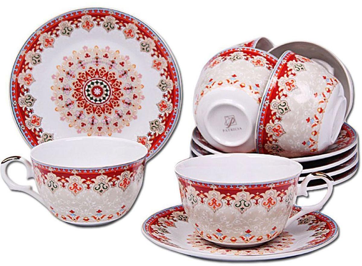 Набор чайный Patricia, 12 предметов. IM56-1722IM56-1722Чайный набор Patricia состоит из 6 чашек и 6 блюдец.Набор, выполненный из высококачественного фарфора, изящно дополнит сервировку стола к чаепитию. Нерекомендуется мыть в посудомоечной машине ииспользовать в микроволновой печи.Объем чашки: 250 мл. Диаметр блюдца: 15 см.
