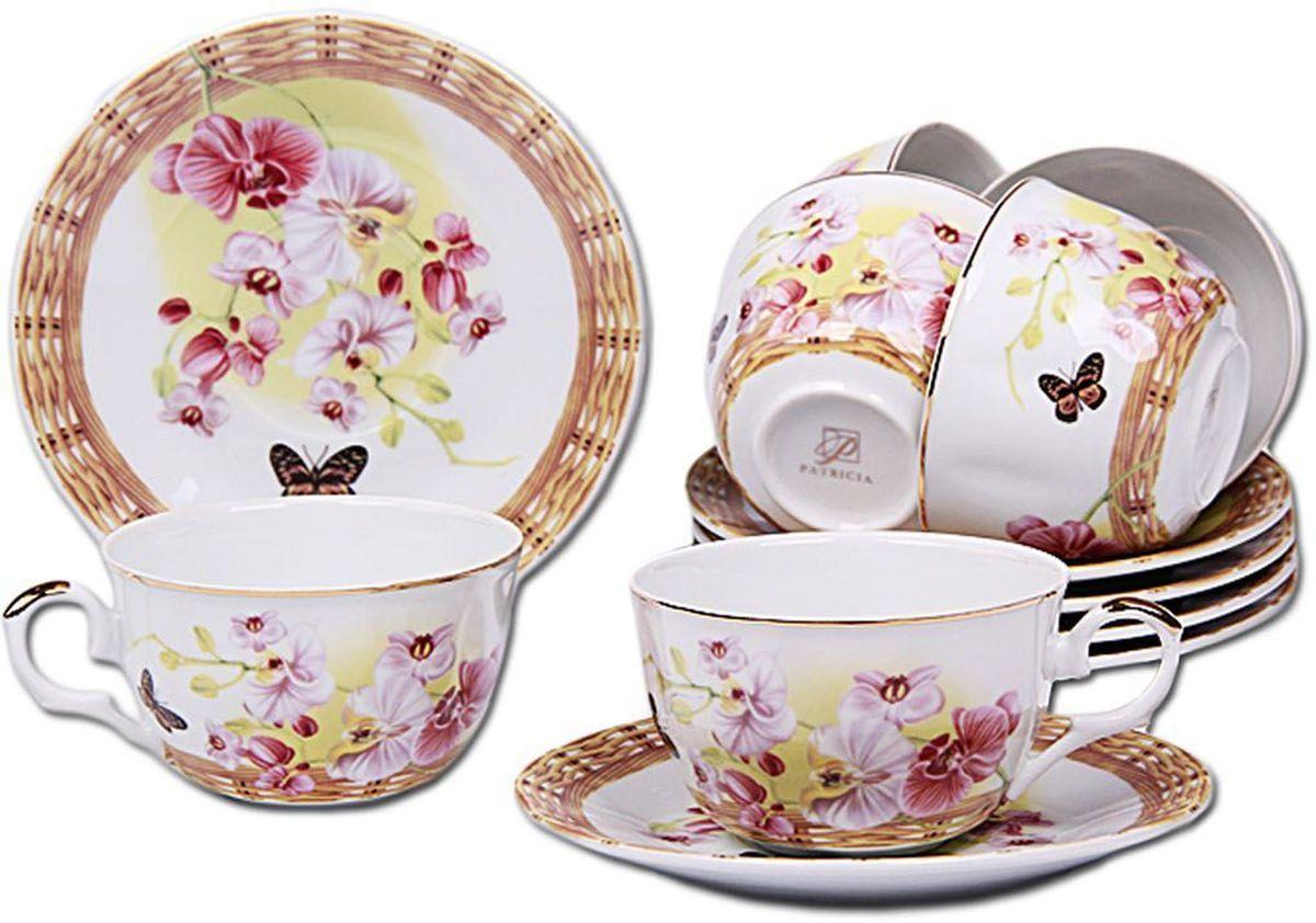 Набор чайный Patricia, 12 предметов. IM56-1822IM56-1822Чайный набор Patricia состоит из 6 чашек и 6 блюдец.Набор, выполненный из высококачественного фарфора, изящно дополнит сервировку стола к чаепитию. Нерекомендуется мыть в посудомоечной машине ииспользовать в микроволновой печи.Объем чашки: 250 мл. Диаметр блюдца: 15 см.
