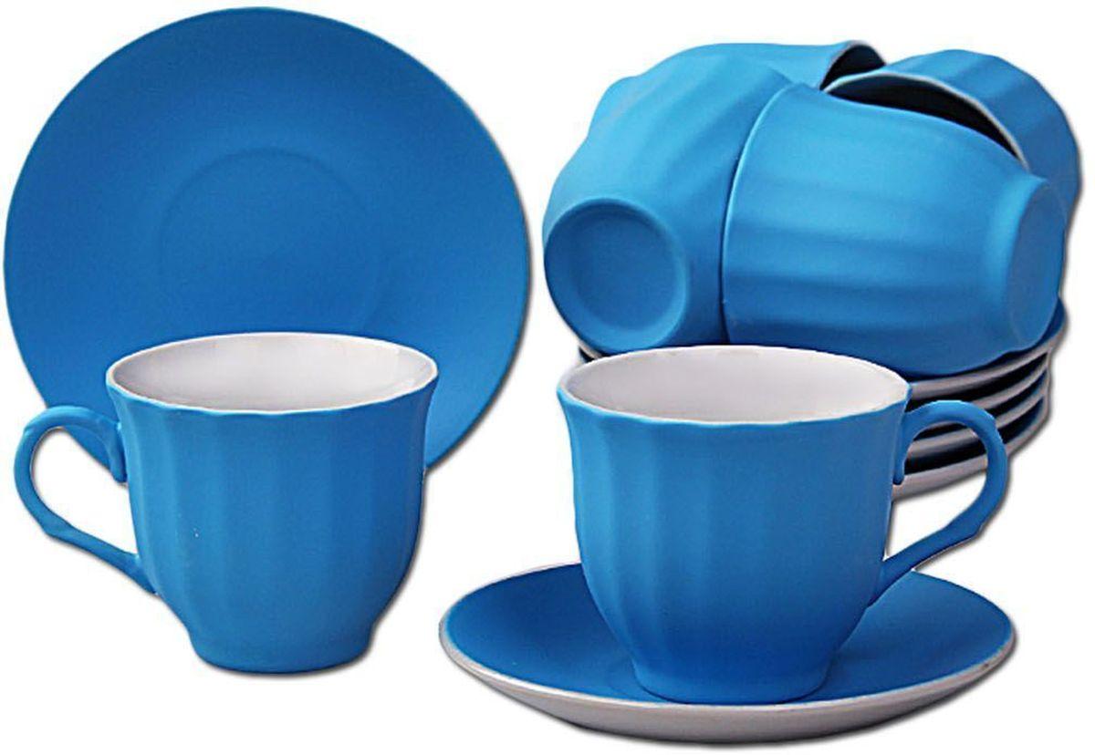 Чайный набор Patricia, цвет: синий, 12 предметов. IM99-5292IM99-5292/синийЧайный набор Patricia состоит из 6 чашек и 6 блюдец. Набор, выполненный из высококачественного фарфора, изящно дополнит сервировку стола к чаепитию. Не рекомендуется мыть в посудомоечной машине и использовать в микроволновой печи.Объем чашки: 250 мл. Диаметр блюдца: 13 см.