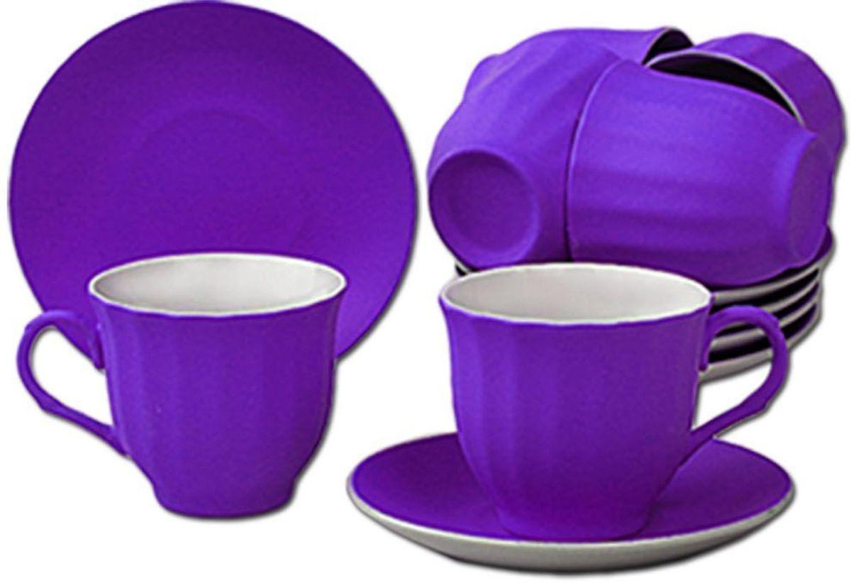Чайный набор Patricia, цвет: фиолетовый, 12 предметов. IM99-5292IM99-5292/фиолетЧайный набор Patricia состоит из 6 чашек и 6 блюдец. Набор, выполненный из высококачественного фарфора, изящно дополнит сервировку стола к чаепитию. Не рекомендуется мыть в посудомоечной машине и использовать в микроволновой печи.Объем чашки: 250 мл. Диаметр блюдца: 13 см.