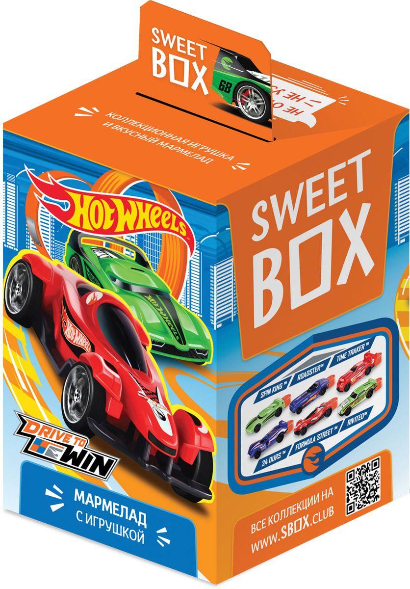 Sweet Box Hot Wheels жевательный мармелад с игрушкой, 10 г очаровашка морская фея фруктовый мармелад с игрушкой 10 г