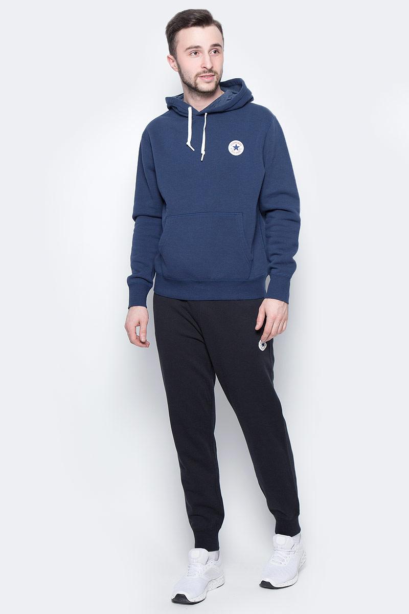 Брюки спортивные мужские Converse Knitted Pant, цвет: черный. 10003124001. Размер S (46)10003124001Спортивные брюки Converse изготовлены из качественного натурального хлопка Модель на широкой эластичной резинке с тремя удобными карманами. Низы брючин дополнены застежками-молниями. Такие брюки незаменимая вещь в спортивном и летнем гардеробе. Прекрасный выбор для занятий спортом или активного отдыха.