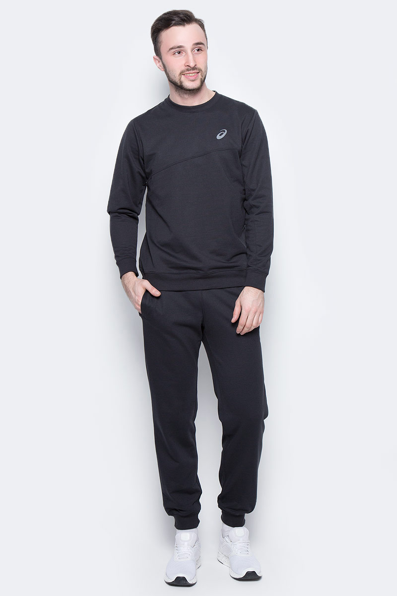 Костюм спортивный мужской Asics Sweater Suit, цвет: черный. 142895-0904. Размер XL (52/54) костюм спортивный женский asics sweater suit цвет серый 142917 0798 размер s 42 44