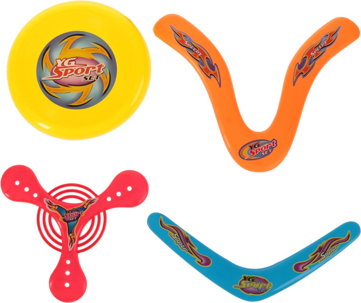 YG Sport Бумеранг 4 в 1 цвет желтый красный оранжевый голубой