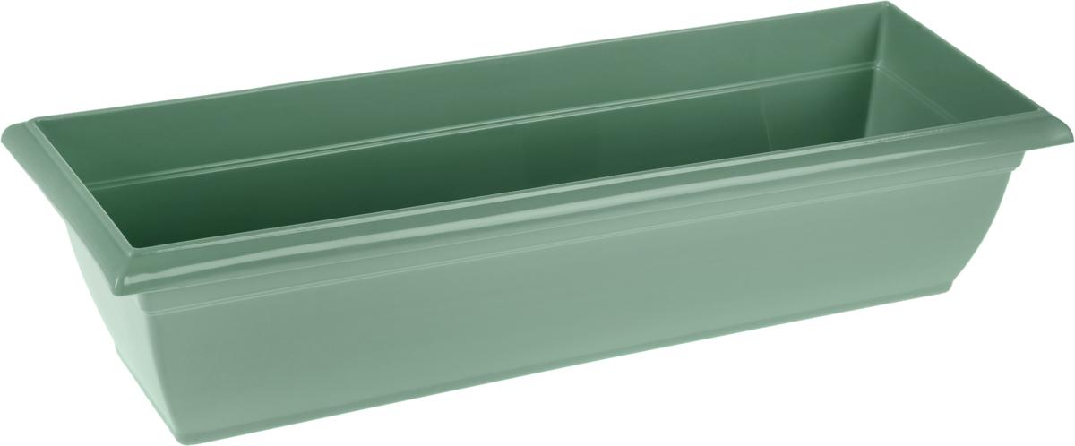 Ящик балконный Santino,60 х 19 х 15 смЯБ 600_нефритБалконный ящик Santino изготовлен из высококачественного цветного полипропилена. Изделие предназначено для выращивания цветов и рассады как на балконе, так и в комнатных условиях.