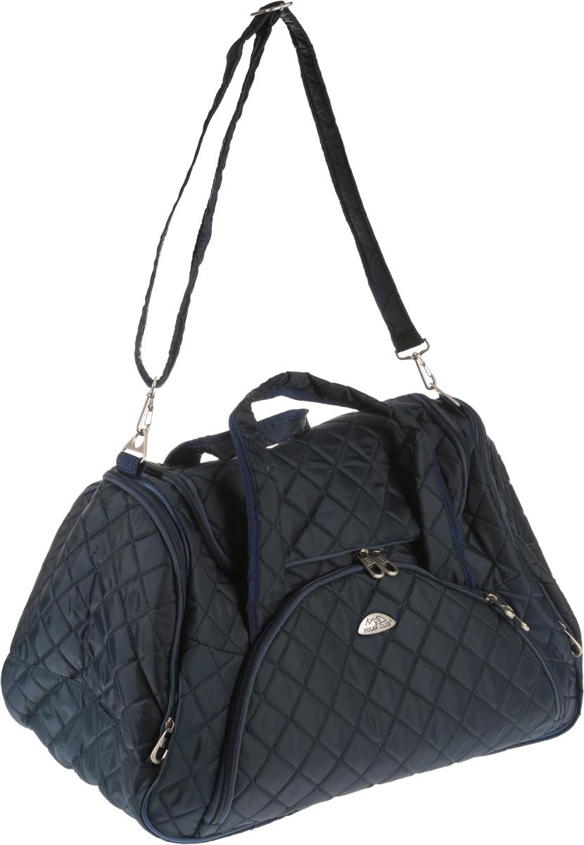 Сумка дорожная Polar, цвет: синий, 57 л7035.1Оригинальная дорожная сумка Polar станет незаменимым спутником в путешествии, поездке на отдых или командировку. Обладатели этой сумки сразу же оценят все достоинства этой модели: стильный современный дизайн, прочный материал и функциональность. Имеется одно вместительное отделение на застежке-молнии. Спереди и по бокам имеется 3 кармана на застежке-молнии. Сумка оснащена 2 ручками и съемным плечевым ремнем.