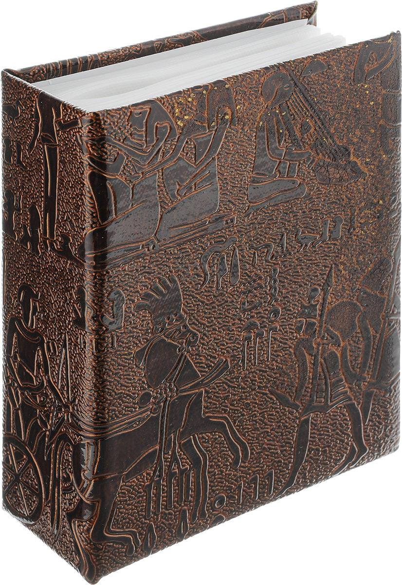 Фотоальбом Pioneer Egypt Leather, 100 фотографий, цвет: коричневый, 10 x 15 см46801 PU-46100Фотоальбом Pioneer Egypt Leather поможет красиво оформить ваши самые интересные фотографии. Обложка, выполненная из делюкс материала (искусственной кожи), оформлена принтом с первобытными людьми. Внутри содержится блок из 50 белых листов с фиксаторами-окошками из полипропилена. Альбом рассчитан на 100 фотографий формата 10 х 15 см (по 1 фотографии на странице). Переплет - высокочастотная сварка. Нам всегда так приятно вспоминать о самых счастливых моментах жизни, запечатленных на фотографиях. Поэтому фотоальбом является универсальным подарком к любому празднику.Количество листов: 50.