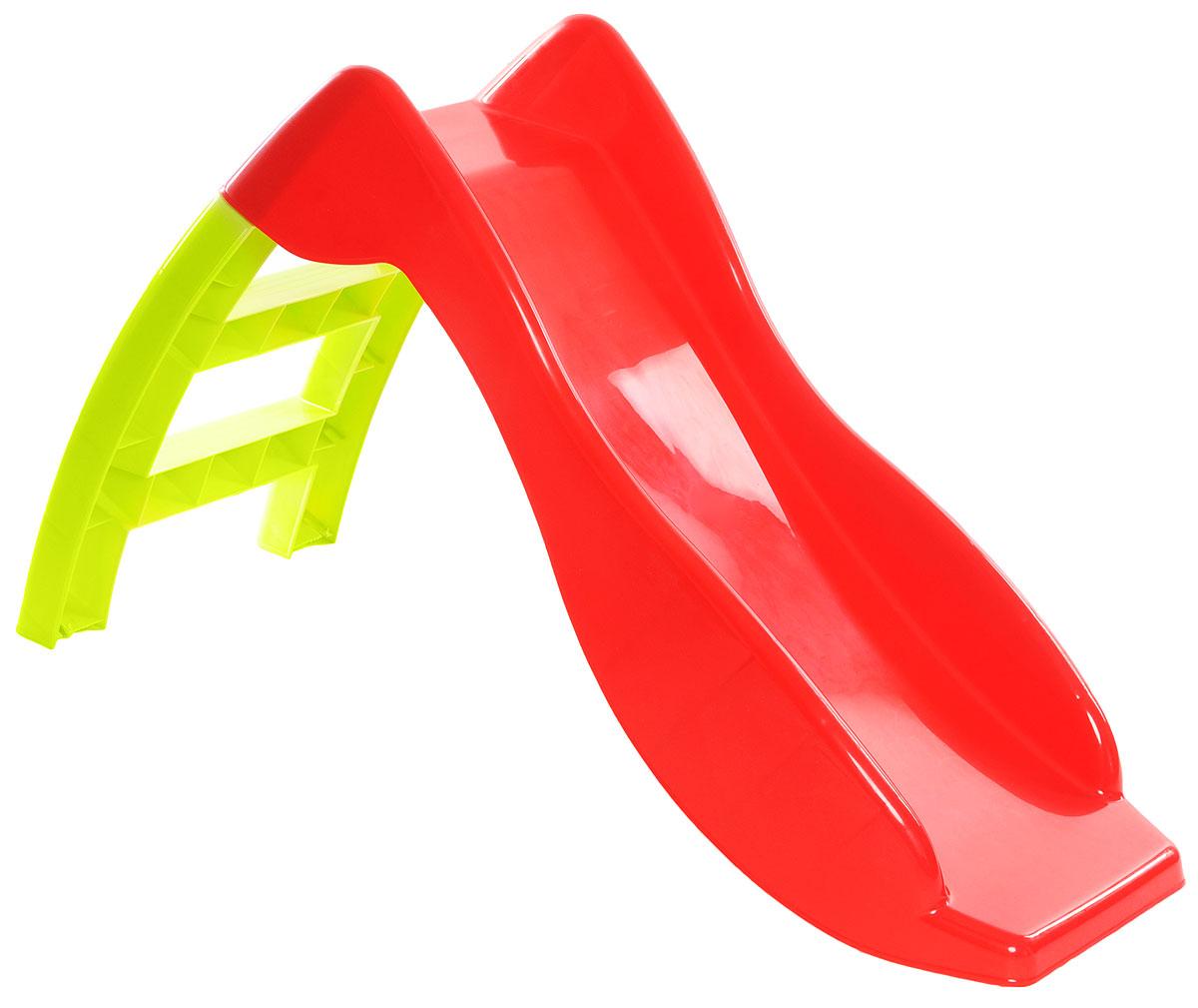 PalPlay Детская горка цвет красный салатовый - Игры на открытом воздухе