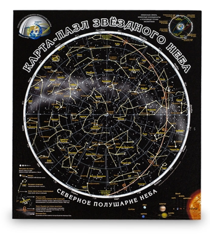 Геоцентр Пазл Карта звездного неба