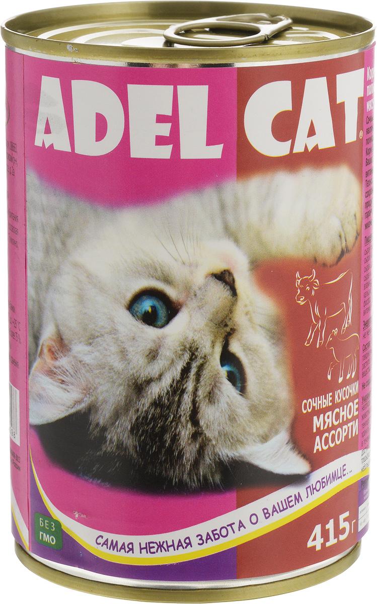 Консервы Adel-Cat, для кошек, мясное ассорти в соусе, 415 г990298Корм консервированный Adel-Cat является сбалансированным и полнорационным питанием для кошек. Корм Adel-Cat обеспечит организм ваших питомцев всеми необходимыми витаминами и микроэлементами. Технология изготовления позволяет сохранить все свойства натуральных продуктов, их качество и полезность, гарантирует поддержание здоровья и жизненных сил ваших любимцев.Товар сертифицирован.