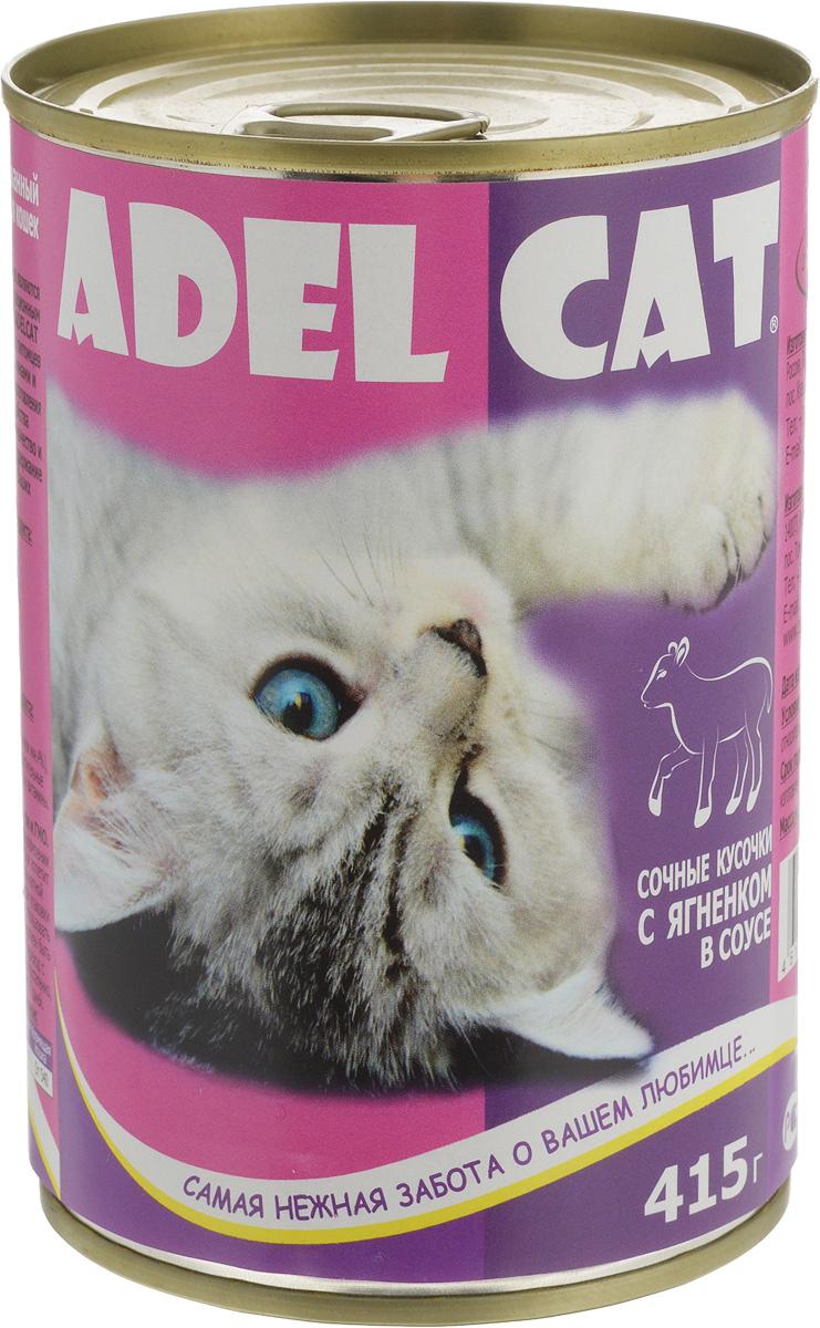 Консервы Adel-Cat, для кошек, с ягненком в соусе, 415 г990304Корм консервированный Adel-Cat является сбалансированным и полнорационным питанием для кошек. Корм Adel-Cat обеспечит организм ваших питомцев всеми необходимыми витаминами и микроэлементами. Технология изготовления позволяет сохранить все свойства натуральных продуктов, их качество и полезность, гарантирует поддержание здоровья и жизненных сил ваших любимцев.Товар сертифицирован.