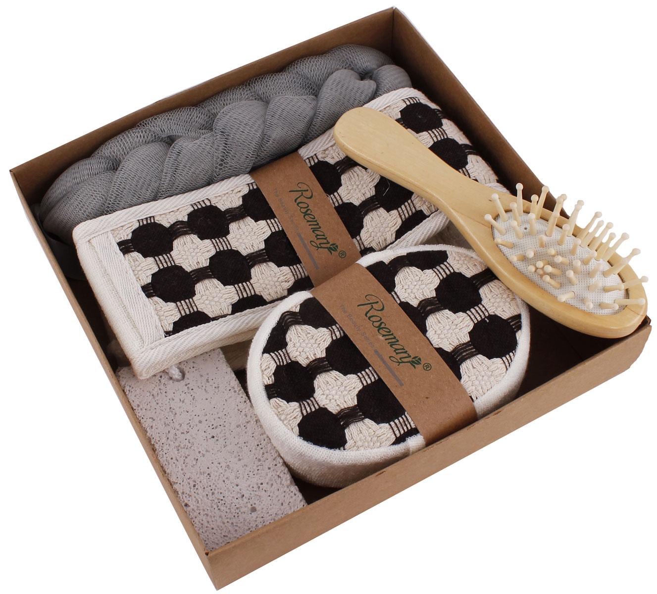Набор банных аксессуаров Patricia, 5 предметов, цвет: серый. IM99-1331/3