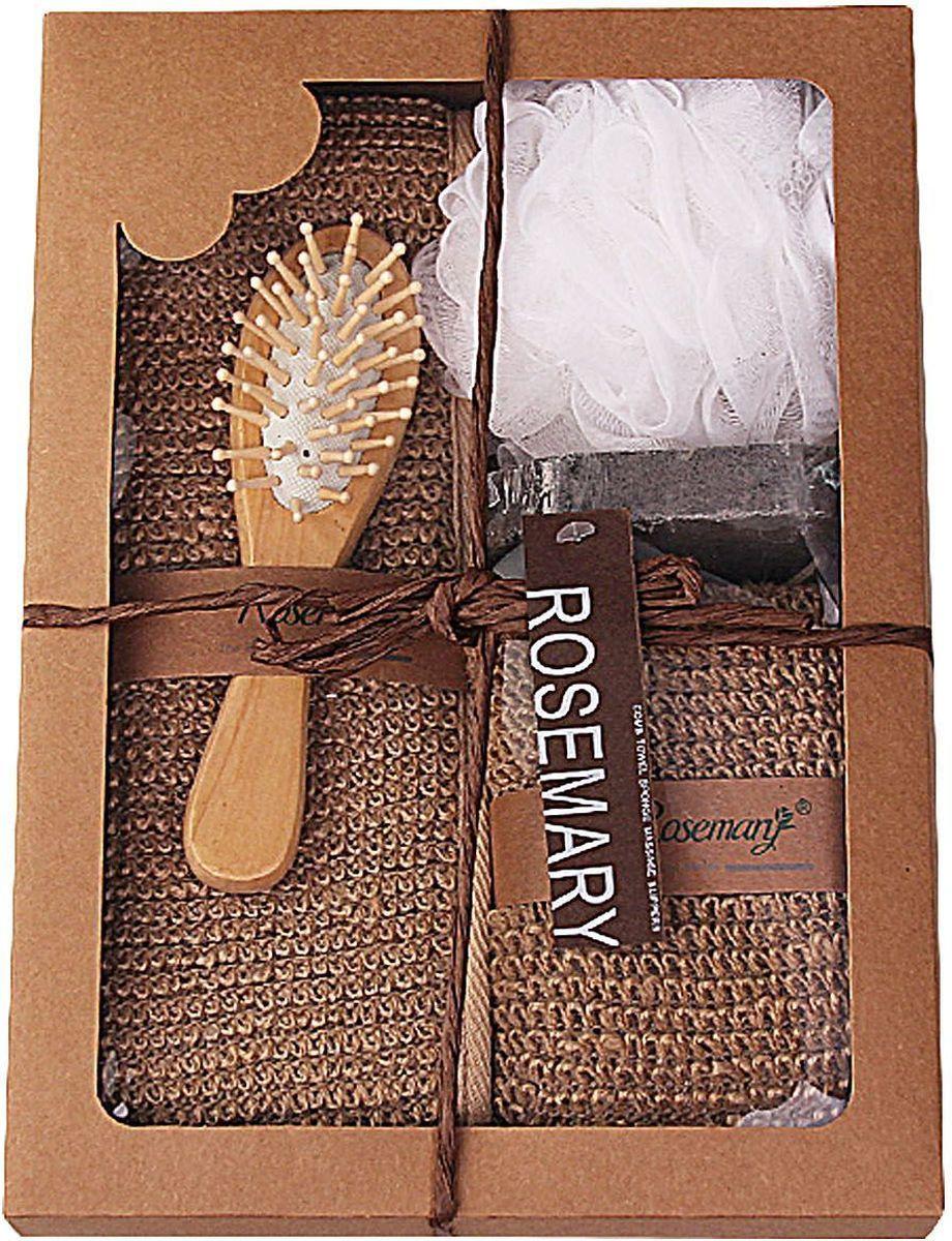 Набор банных аксессуаров Patricia, 5 предметов, цвет: коричневый. IM99-1332