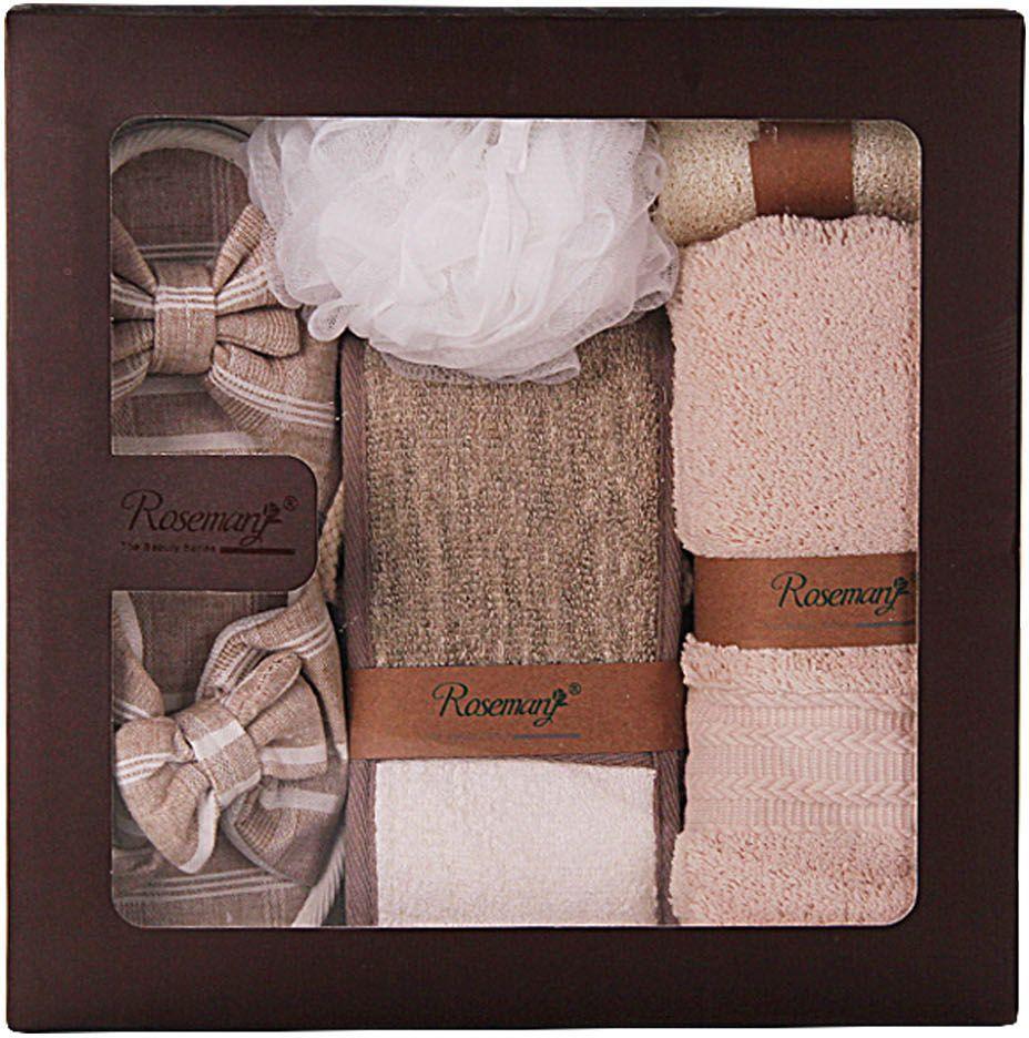 Набор банных аксессуаров Patricia, 5 предметов, цвет: белый, коричневый. IM99-1335 наборы аксессуаров для бани patricia набор банных аксессуаров 5 предметов