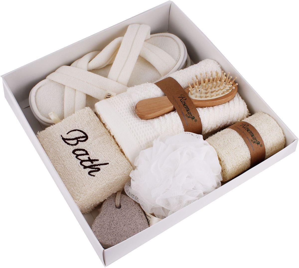Набор банных аксессуаров Patricia, 7 предметов, цвет: белый. IM99-1338
